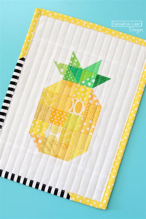 Pineapple Patchwork Pattern - free patchwork pineapple mini quilt pattern sassafras