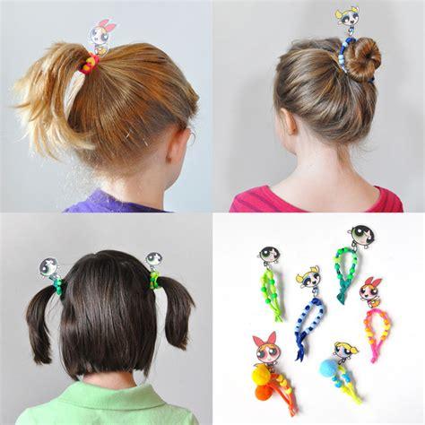 Handmade Hair Ties - diy powerpuff hair ties handmade
