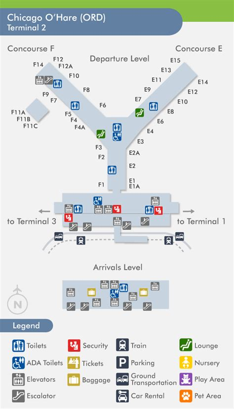 chicago ohare ord airport terminal map terminal 2 image gallery o hare terminal 2