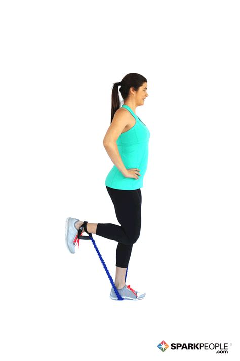 single leg hamstring curls with band exercise