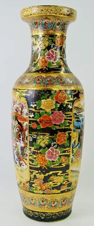 royal satsuma vase large japanese painted royal satsuma vase