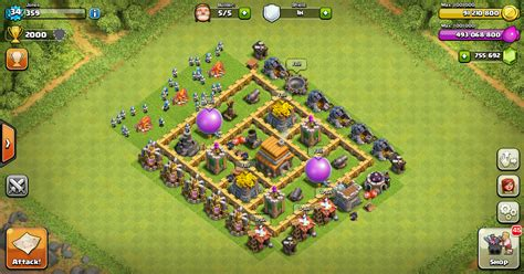 jenis layout coc war base layout clash of clans th 5 design base clash of