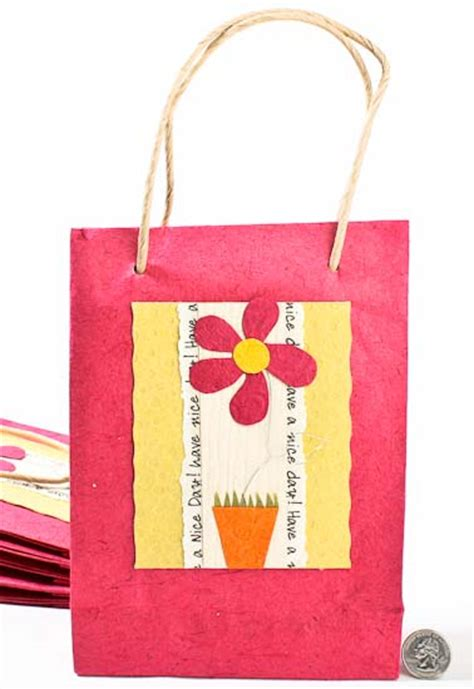 Handmade Paper Gift Bags - pink handmade paper gift bags set of 10 gift bags
