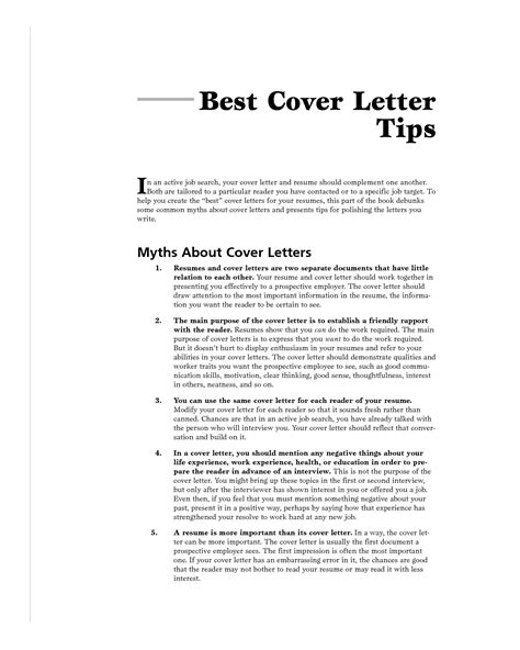 Cover Letter Tips Best Cover Letter Jvwithmenow