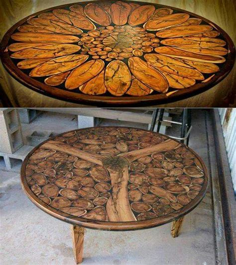best sided for woodworking wood slice mosaic tables mosaics mosaici