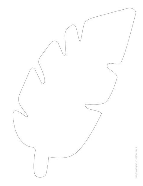 Jungle Leaf Templates To Cut Out by So I Think This Could Be The Name Tag You Print The
