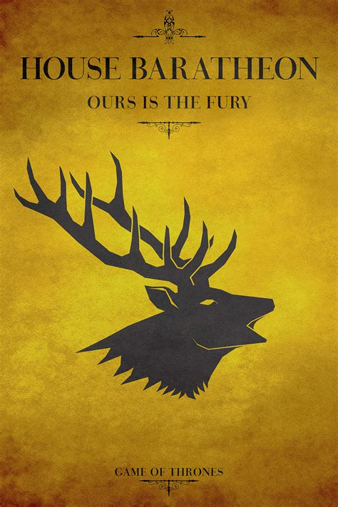 house baratheon house baratheon game of thrones on behance