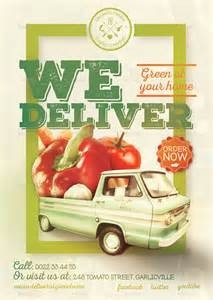 Delivery Flyer Template by Organic Food Poster Flyer Template By Creativeform