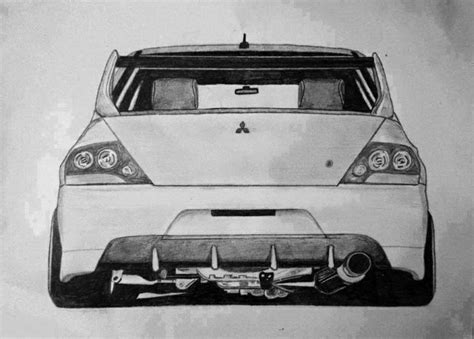 mitsubishi evo drawing mitsubishi lancer evolution ix sketch cars pinterest