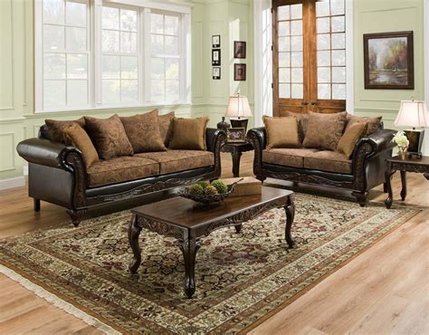 Living Room Pillow Set San Marino Traditional Living Room Furniture Set W Wood