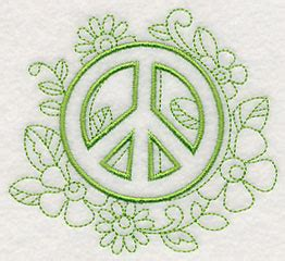 doodle peace sign machine embroidery designs at embroidery library