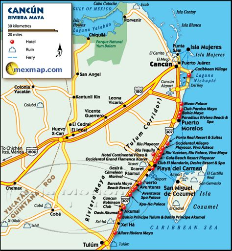maps cancun map of cancun mexico mexico go to the official