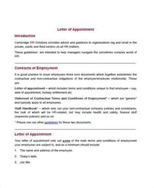 Appointment Letter Employment Agreement 61 Sample Appointment Letters