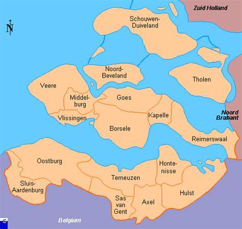 clickable map of zeeland province netherlands