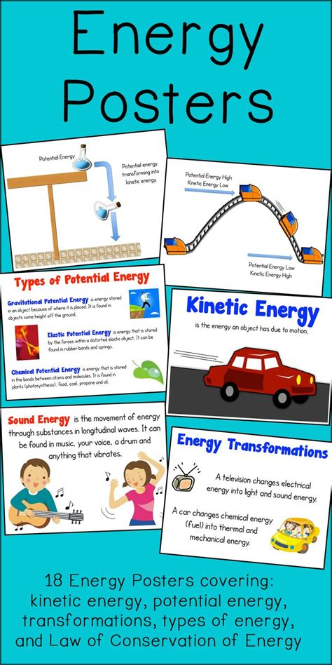 is light energy potential or kinetic energy poster set kinetic potential transformations