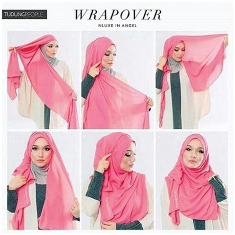 gambar tutorial tudung elfira loy cara pakai shawl elfira loy step by step terkini 2018