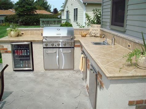Outdoor Island Kitchen Appliances Lighting Kirk Wylie Masonry