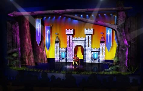 musical set shrek the musical set design images set design
