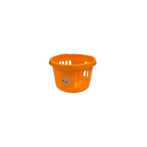 Round White Plastic Laundry Basket Laundry Plastic
