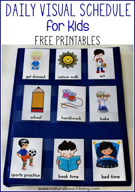 free printable daily visual schedule daily visual schedule for kids free printable preschool