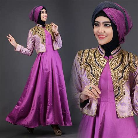 Maxi Songket Ungu B baju gamis pesta talita2 a225b busana muslim dian pelangi