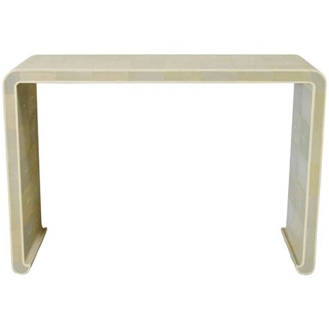 shagreen console table italian shagreen curved console table by fabio bergomi for