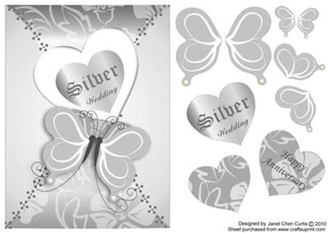 free printable silver anniversary cards butterflies silver wedding anniversary cup138641 730