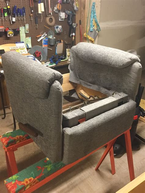 Upholstery Springfield Mo by Custom Upholstery Lazboy Recliner Chair Gray Fabric 035