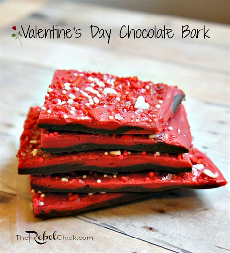 valentines chocolate recipes an easy valentines day chocolate bark recipe the rebel