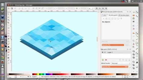 inkscape tutorial isometric inkscape low poly isometric water tutorial youtube