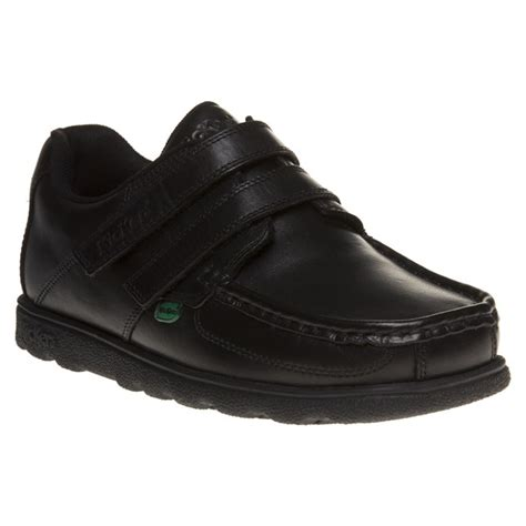 Kickers Slip On Leather new boys kickers black fragile slip on leather shoes