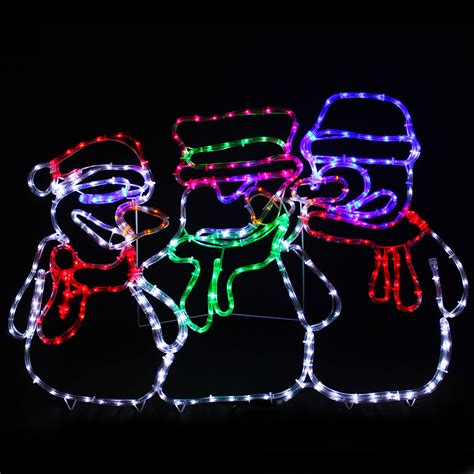 animated snowman led rope lights silhouette outdoor