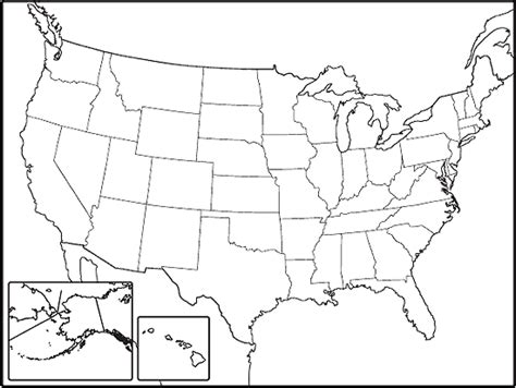 us map outline states blank outline maps of united states and canada