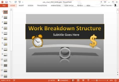 Work Breakdown Structure Template For Powerpoint Wbs Template Powerpoint