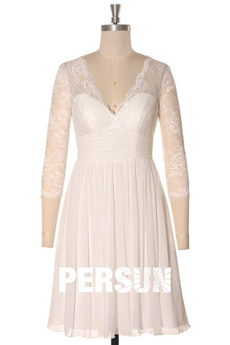 Robe Mariée Manche Longue Boheme - robe de mari 233 e courte 224 manche dentelle boh 232 me mi longue