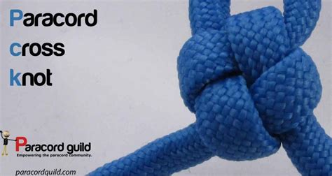 How To Make Knot - how to make a cross knot paracord guild