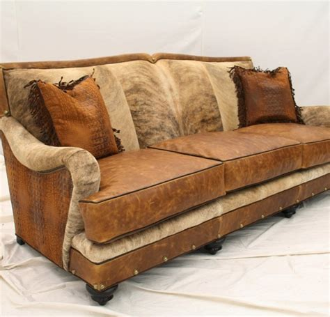 western couches cow hide sofa now and find the cowhide sofa has arrived