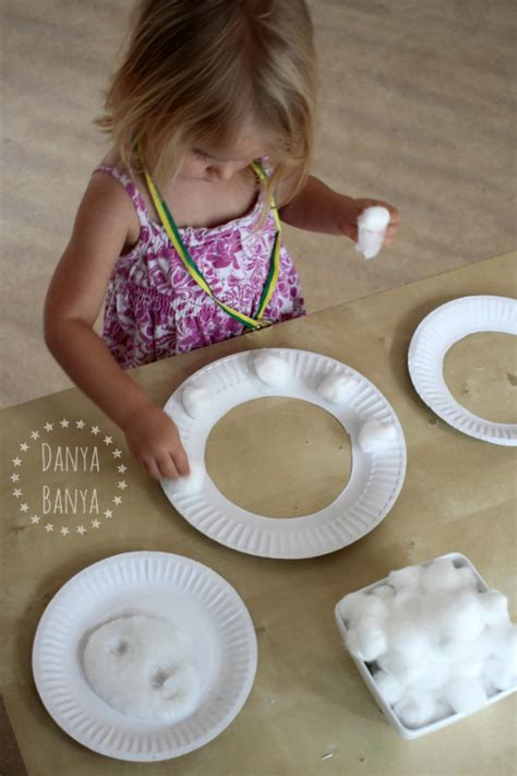 Paper Pasting Craft - paper plate sheep mask for danya banya