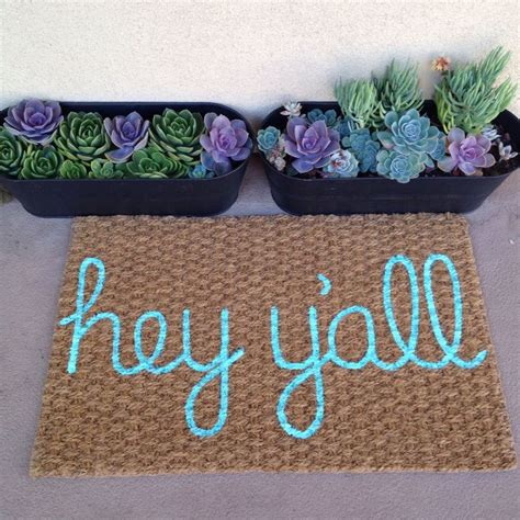 Pretty Mats by 15 Diy Doormats That Are Almost Pretty To Wipe Your