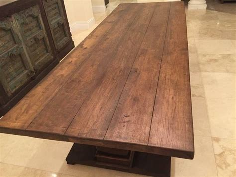 reclaimed hickory table top custom built wood tables