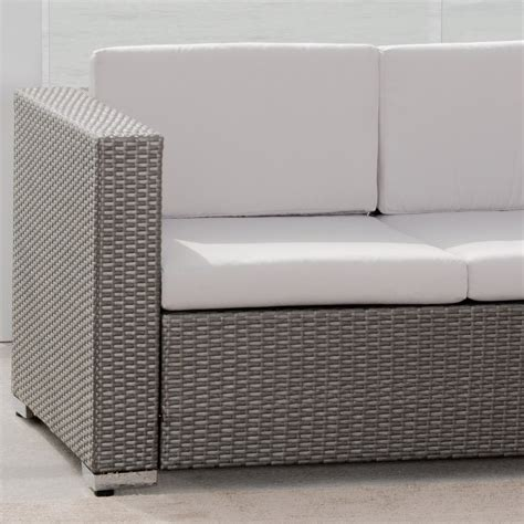 grey wicker sofa westlake grey wicker 4pc outdoor sofa set great deal