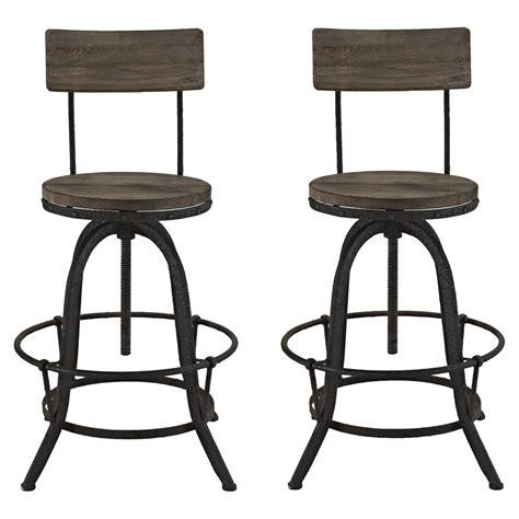 bar stool top procure bar stool wood top brown set of 2 dcg stores