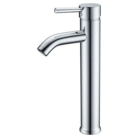 anzzi fann single hole single handle vessel bathroom faucet  polished chrome  az
