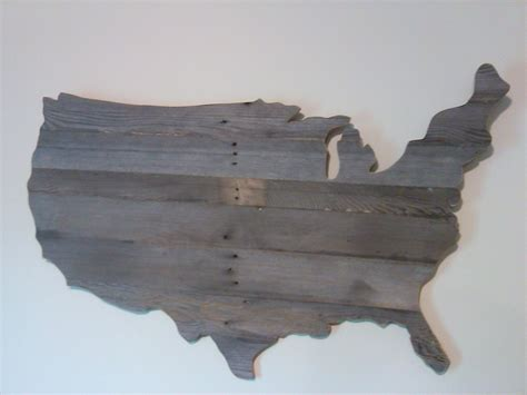 How To Make A Wooden Usa Map Wall Out Of Pallets