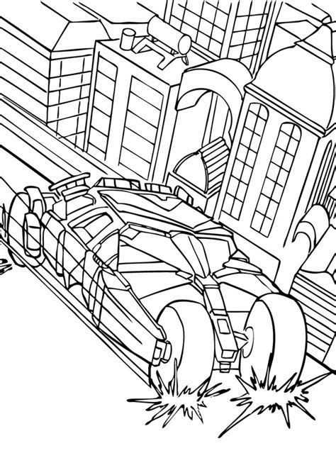 batman s car in the city coloring pages hellokids com