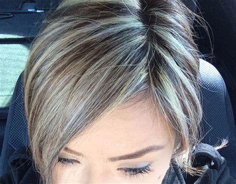 platinum highlights for graying brunette hair platinum highlights hair pinterest highlights and