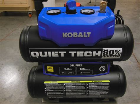 kobalt tech air compressor a surprising ears on review