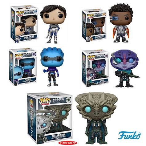 mass effect andromeda pop vinyl figure set of 5 wars