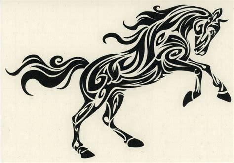 tribal stripes tattoo arabian stallion decal tribal celtic pony car truck
