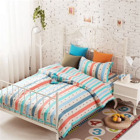 3pcs colorful bedding sets twin comforter set high quality